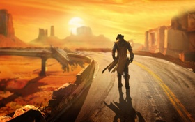 Обои Lonesome Road, дополнение, Fallout: New Vegas, DLC, add-on