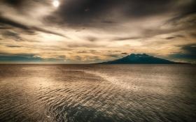 Картинка солнце, облака, тучи, Филиппины, остров Camiguin