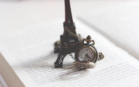 Обои стрелки, эйфелева башня, часы, цифры