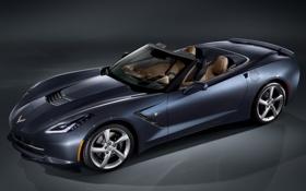 Обои авто, Corvette, Chevrolet, шевроле, Convertible, Stingray
