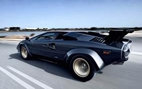 Обои дорога, машина, скорость, Lamborghini, Countach, ламборгини, 5000