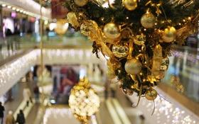 Обои украшения, праздник, шары, новый год, боке