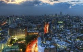 Обои дорога, город, япония, Tokyo, токио, Road