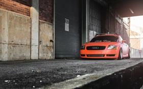 Картинка Audi, Orange, Car, Tuning, Stance