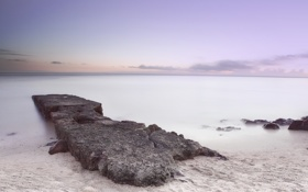 Картинка пляж, нежное, утро, море