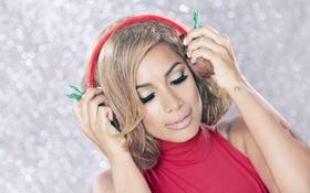 Картинка девушка, наушники, певица, Leona Lewis, Леона Льюис