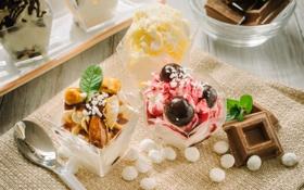 Картинка шоколад, мороженое, сладости, десерт