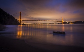 Обои город, Сан-Франциско, США, мост Золотые Ворота, Марин, северная калифорния