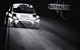 Обои Ford, Спорт, Машина, Свет, Гонка, Фары, WRC