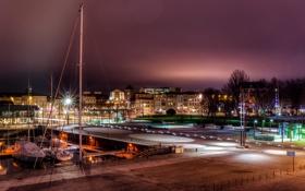 Картинка фото, причал, ночь, La Rochelle, улица, город, пирс