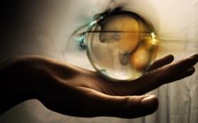 Картинка сфера, hand, шар, sphere, рука
