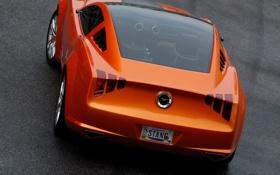 Обои оранжевый, спорт, mustang, concept, ford, giugiaro
