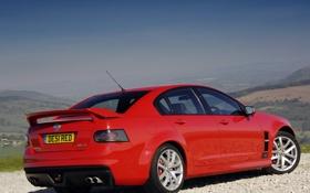 Обои red, Vauxhall, задняя часть, VRX8
