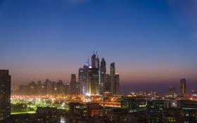 Обои city, dubai, united arab emirates, sunset