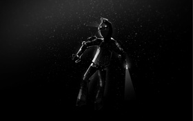 Обои темнота, робот, дайвер