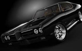 Картинка чёрная, Pontiac, GTO