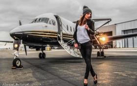 Картинка стройная, photographer, трап, Florent Bellurot, девушка. самолет