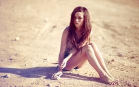 Картинка пляж, девушка, Jacquie