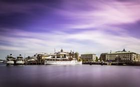 Обои город, корабли, Швеция, набережная, Vastra Gotaland, Nordstaden, Gothenburg