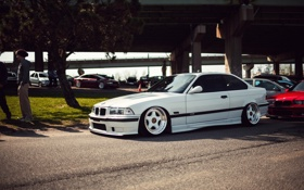 Обои тюнинг, бмв, BMW, белая, tuning, E36