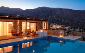 Обои дизайн, дом, стиль, вилла, бассейн, relax, архитектура