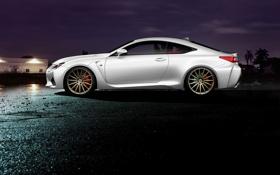 Картинка Lexus, white, profile, RC F