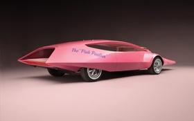 Обои Pink panther car, единственный экземпляр, widescreen