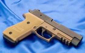 Обои blue, Weapons, _sig sauer pistol