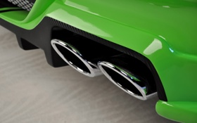 Обои prior design, bmw m6, глушитель, exhaust, car, машина, 3000x1992