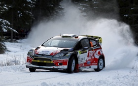 Обои Ford, Зима, Снег, WRC, Rally, Ралли, Fiesta