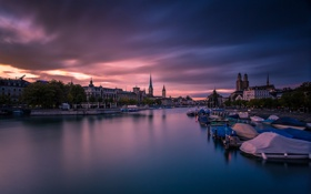 Картинка Sunset, Zürich, Classic view