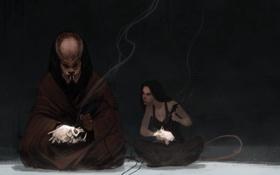 Картинка девушка, хищник, арт, Predator, учитель, ученица, Reykat