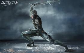 Обои оружие, фантастика, меч, MGS, Metal Gear Solid, фанарт, fanart