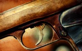 Обои пистолет, оружие, фон
