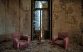 Обои фон, комната, кресла