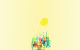 Обои Солнце, Люди, Краски, Mathiole, Matheus Lopes Castro