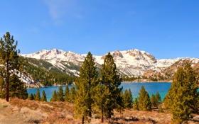 Обои пейзаж, горы, природа, озеро