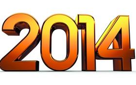 Обои золото, новый год, цифры, new year, 2014