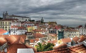 Картинка город, фото, дома, Португалия, Lisbon