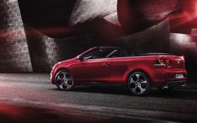 Обои авто, красный, кабриолет, гольф, фольксваген, Volkswagen Golf