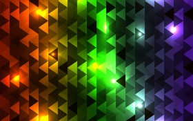 Обои абстракция, разноцветные, треугольники
