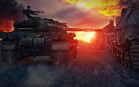 Обои танк, USSR, СССР, танки, WoT, Мир танков, tank