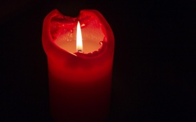 Обои макро, фон, свеча