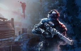 Картинка здания, солдат, Killzone: Shadow Fall, Shadow Fall