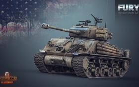 Обои танк, USA, США, Америка, танки, рендер, WoT