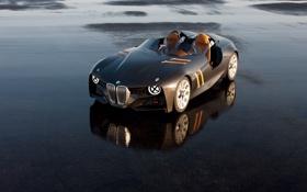 Картинка асфальт, мокрый, отражение, BMW, Hommage, 328