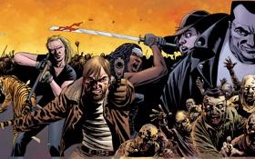 Картинка zombies, collage, The walking Dead, COMIC