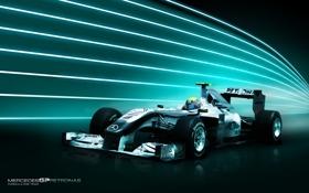 Обои Nico Rosberg, Mercedes GP, Formula-1