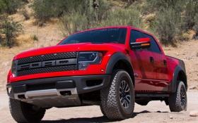 Обои Ford, передок, front, F-150, Roush, SVT Raptor, red