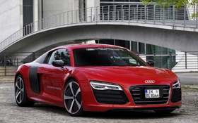 Картинка красный, Audi, ауди, Prototype, red, автомобиль, e-Tron